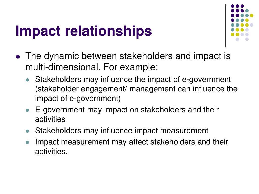 Impact relationships