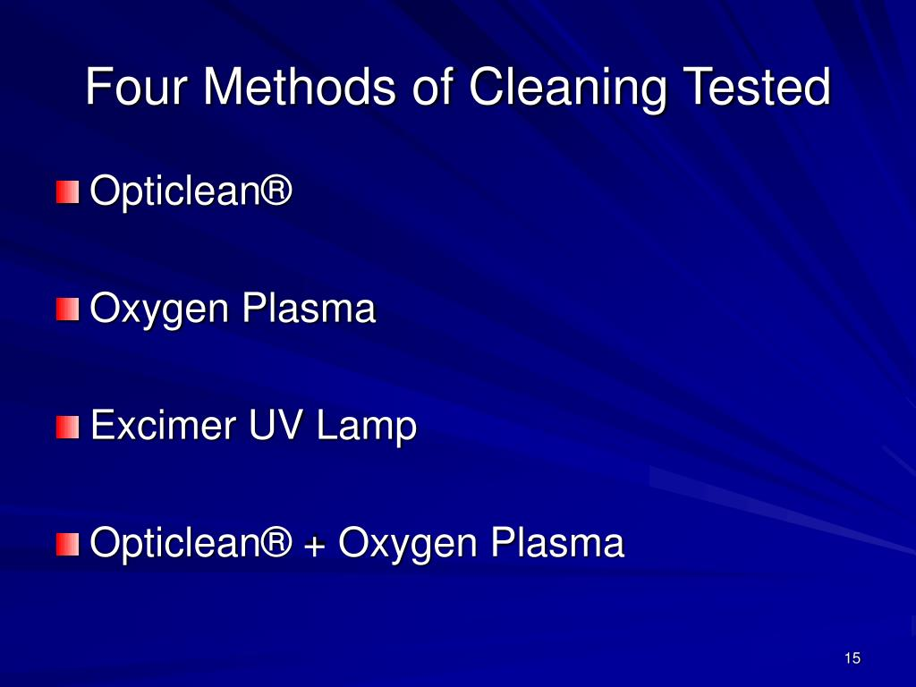 Four Methods of Cleaning Tested