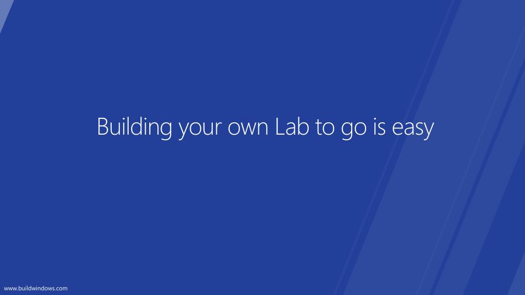 Building your own Lab to go is easy