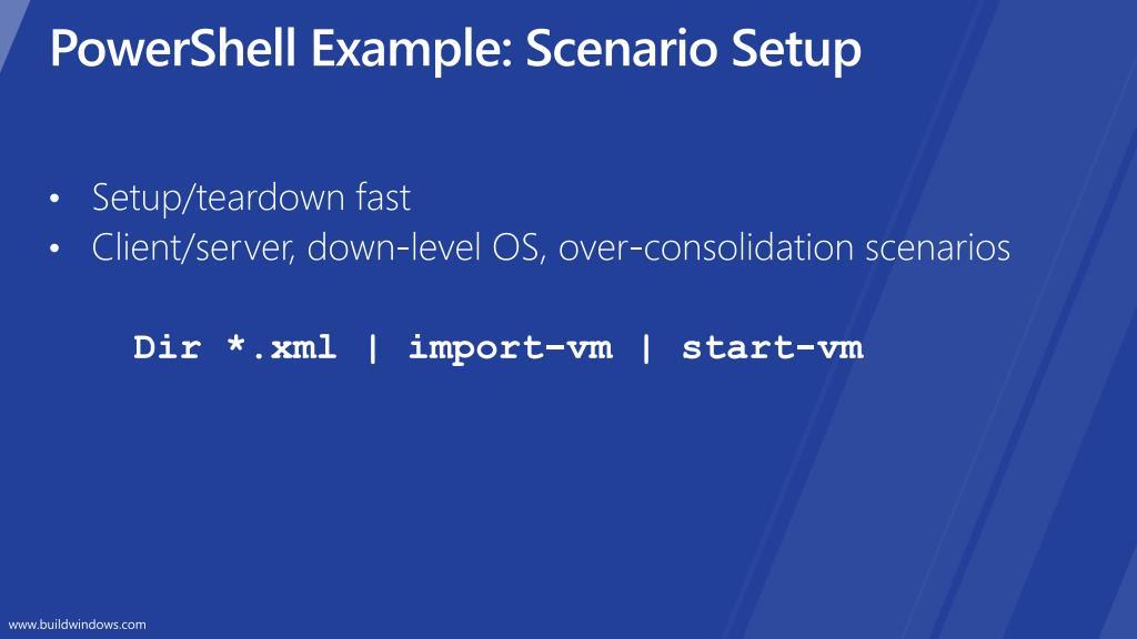 PowerShell Example: Scenario Setup