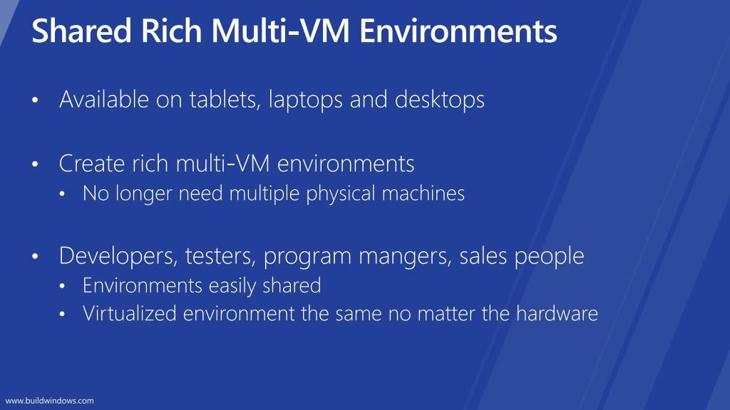Shared Rich Multi-VM Environments