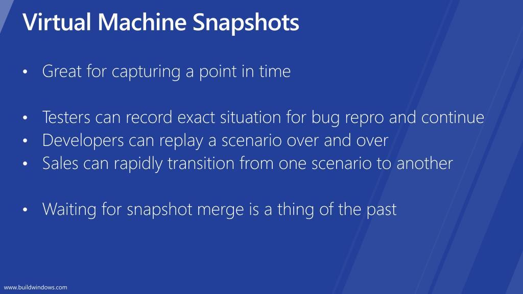 Virtual Machine Snapshots