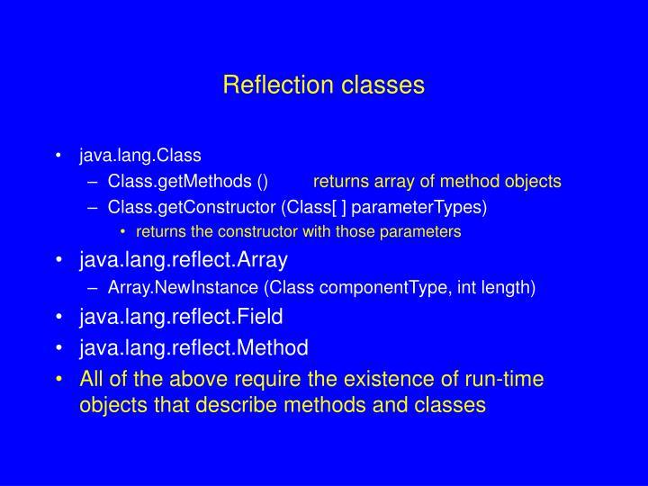 Reflection classes