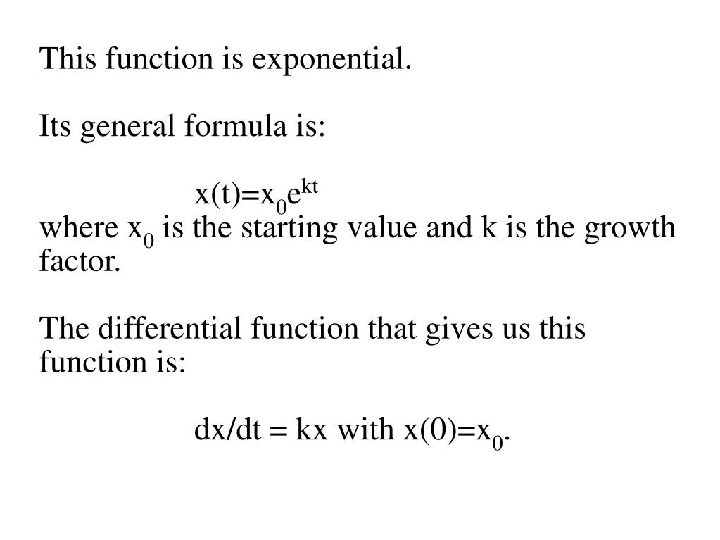 This function is exponential.