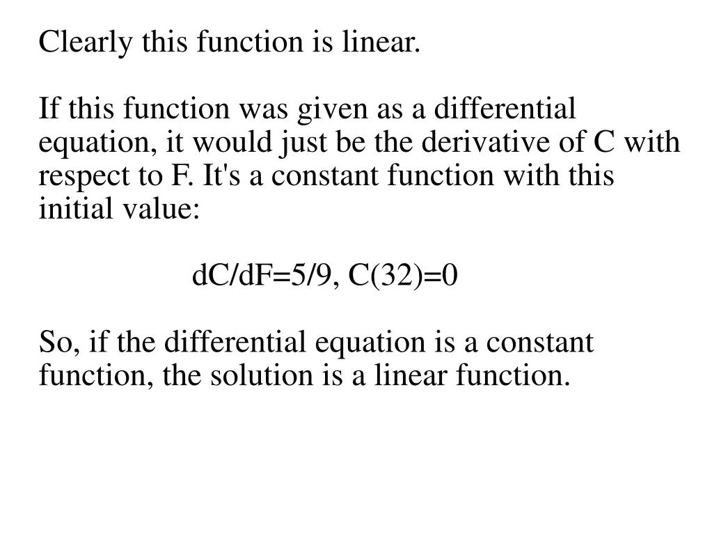 Clearly this function is linear.