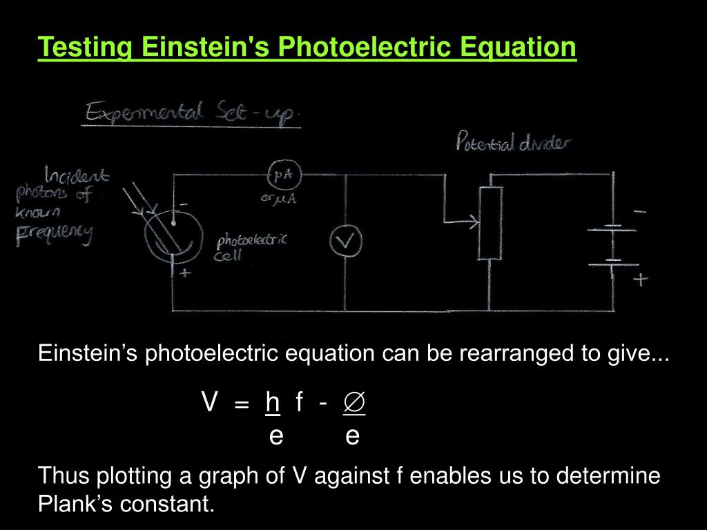 Testing Einstein's Photoelectric Equation