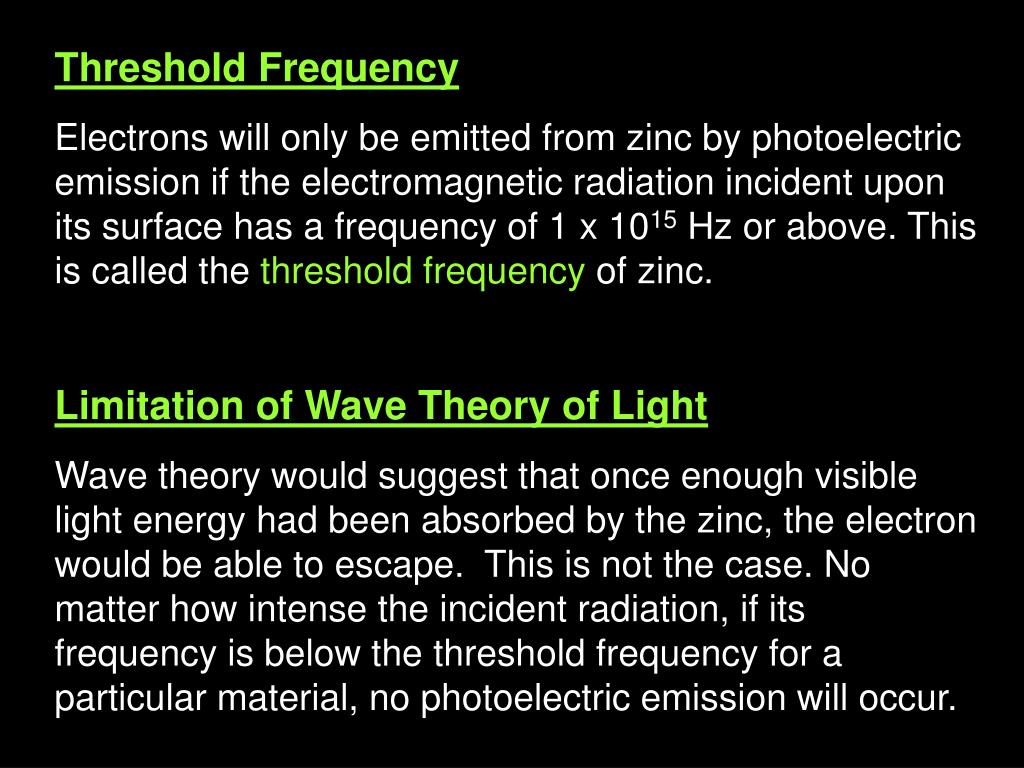 Threshold Frequency