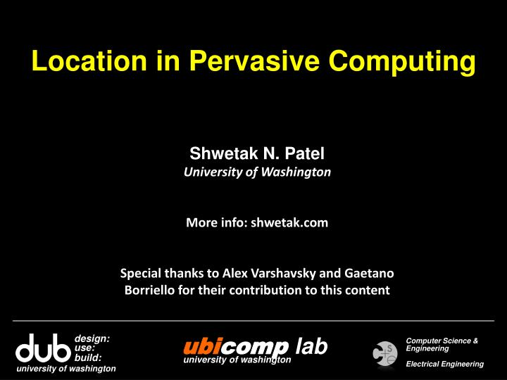 Location in pervasive computing
