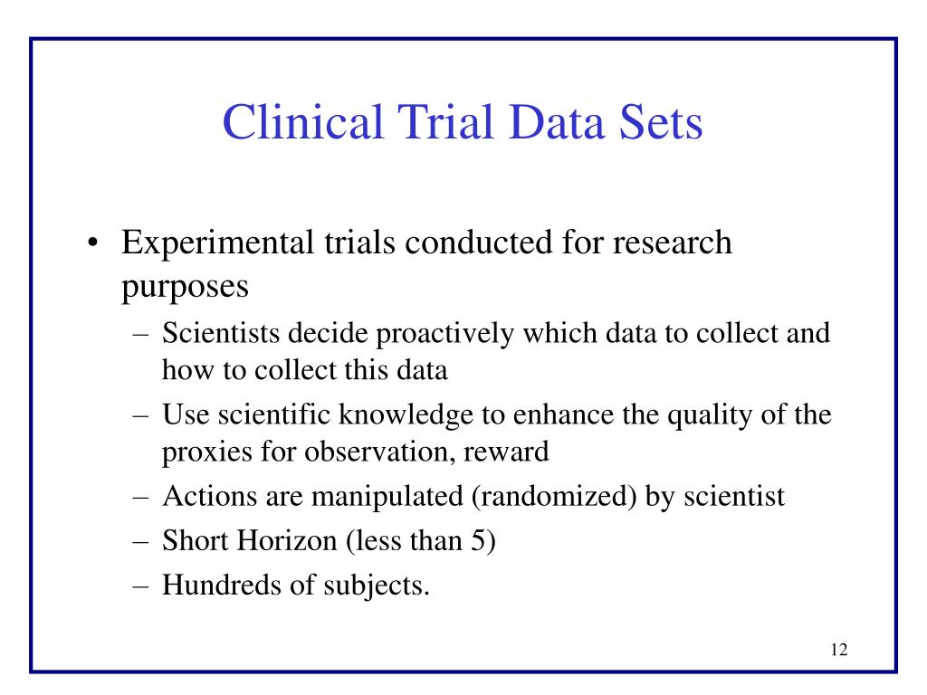 Clinical Trial Data Sets