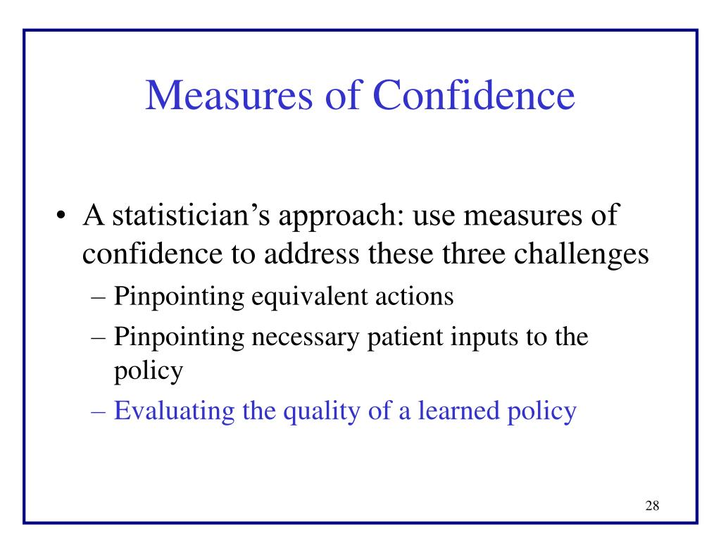 Measures of Confidence