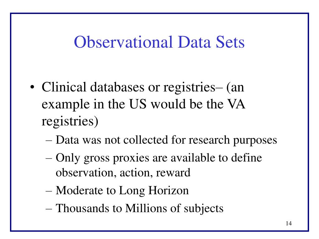 Observational Data Sets