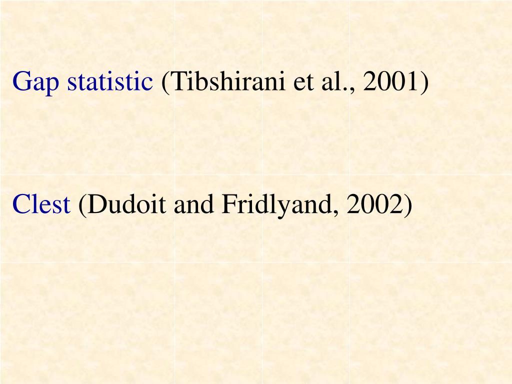 Gap statistic