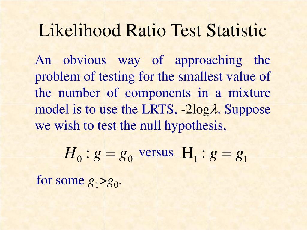 Likelihood Ratio Test Statistic