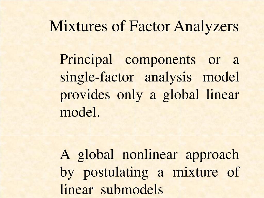 Mixtures of Factor Analyzers