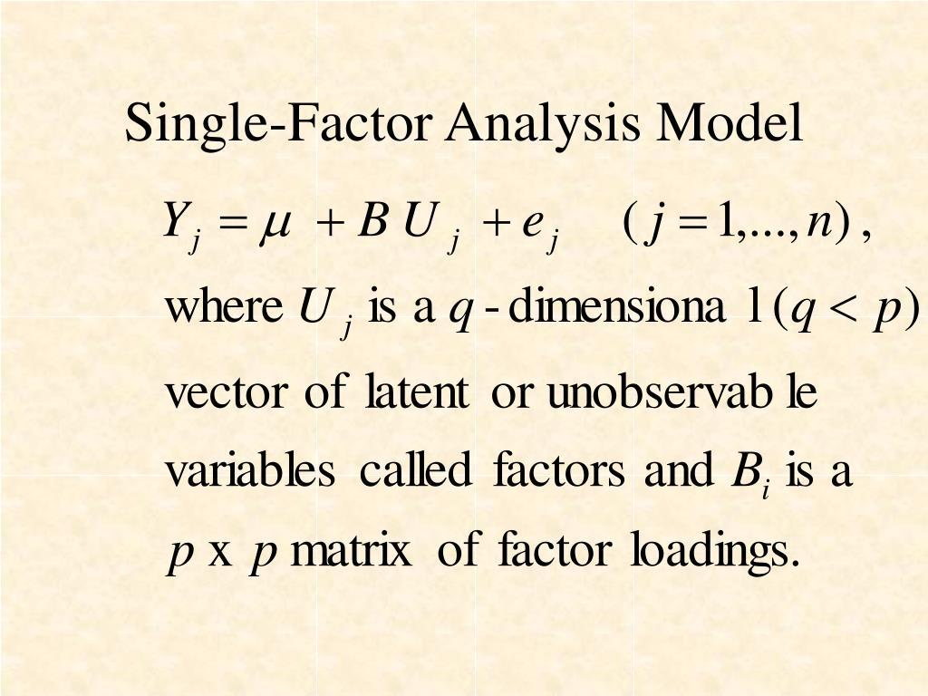 Single-Factor Analysis Model