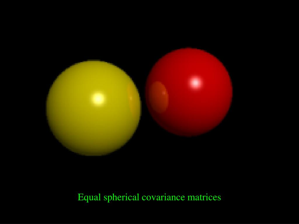 Equal spherical covariance matrices