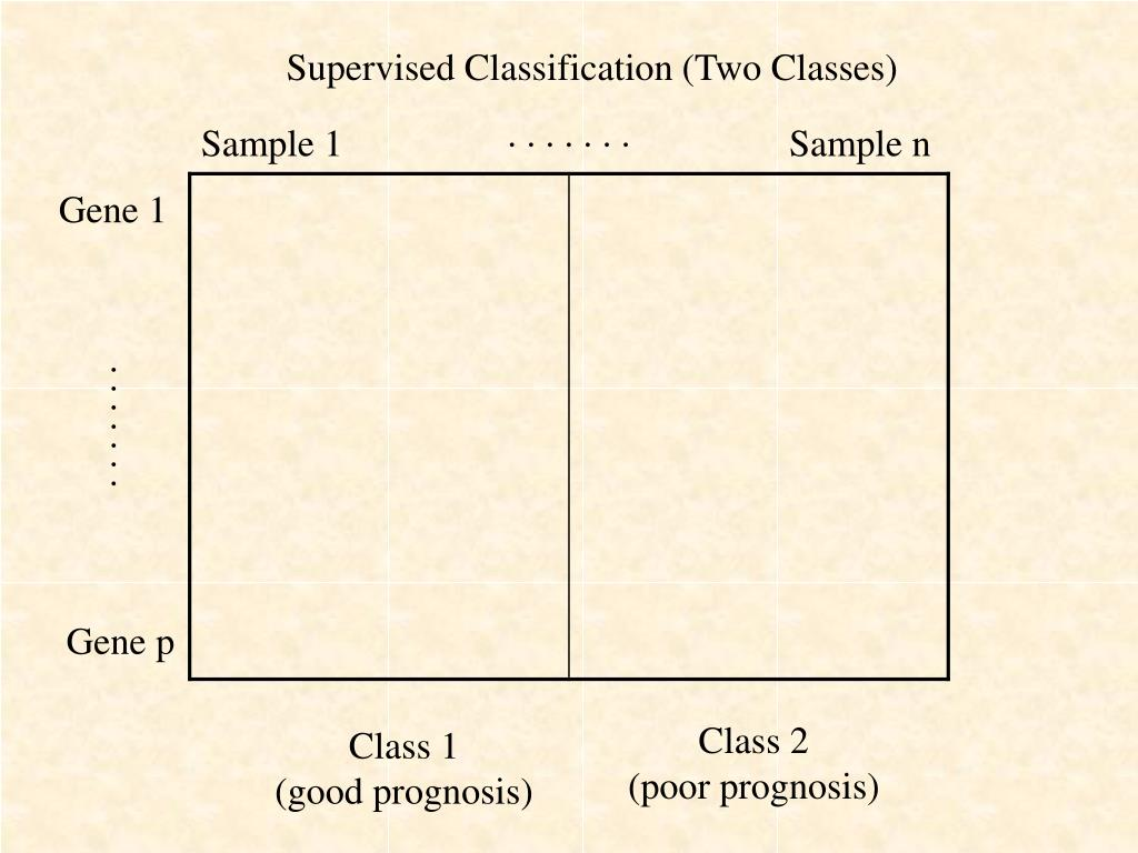 Supervised Classification (Two Classes)