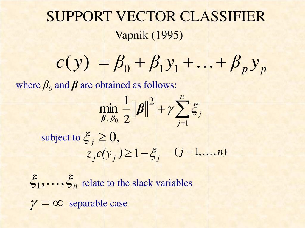SUPPORT VECTOR CLASSIFIER