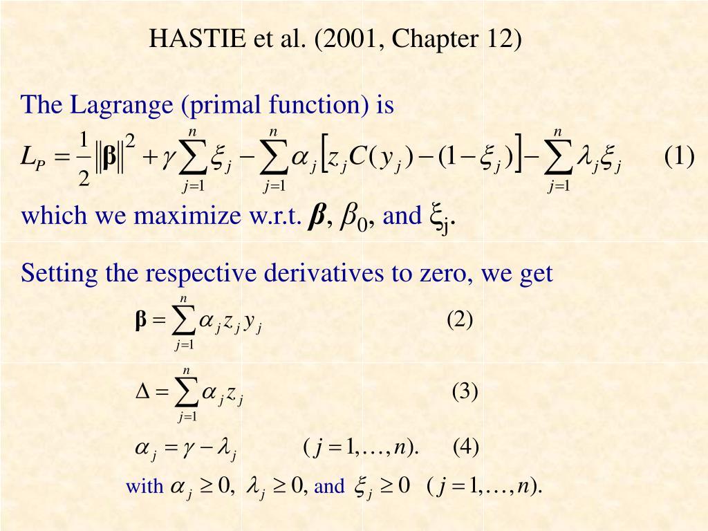 HASTIE et al. (2001, Chapter 12)