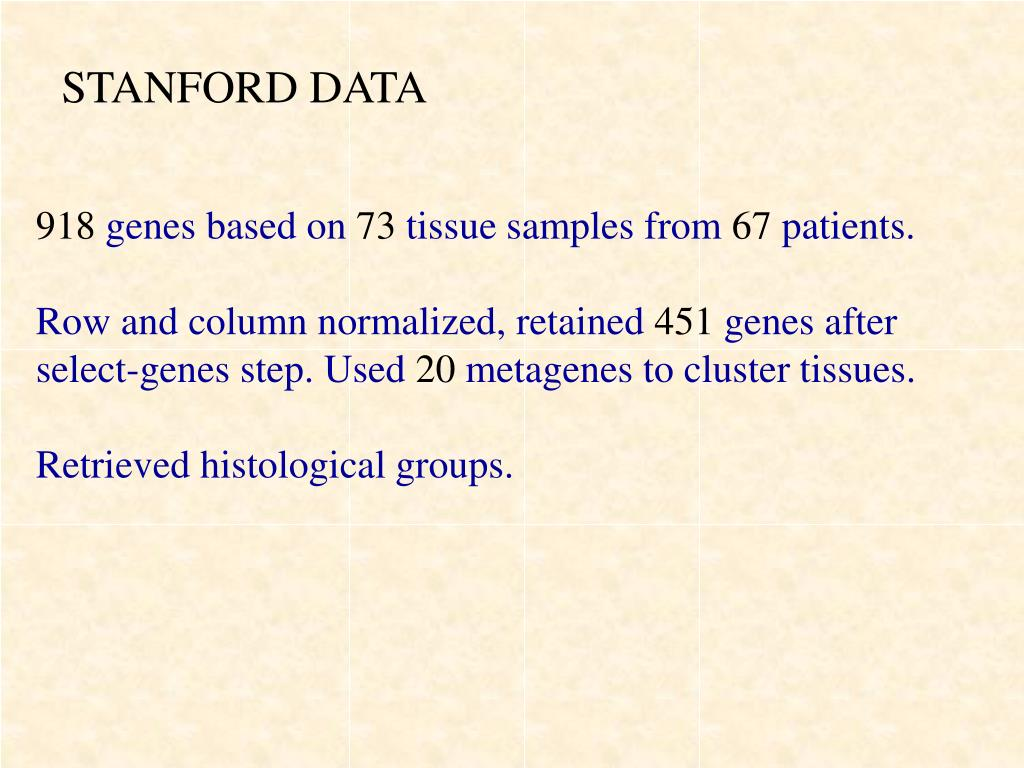 STANFORD DATA