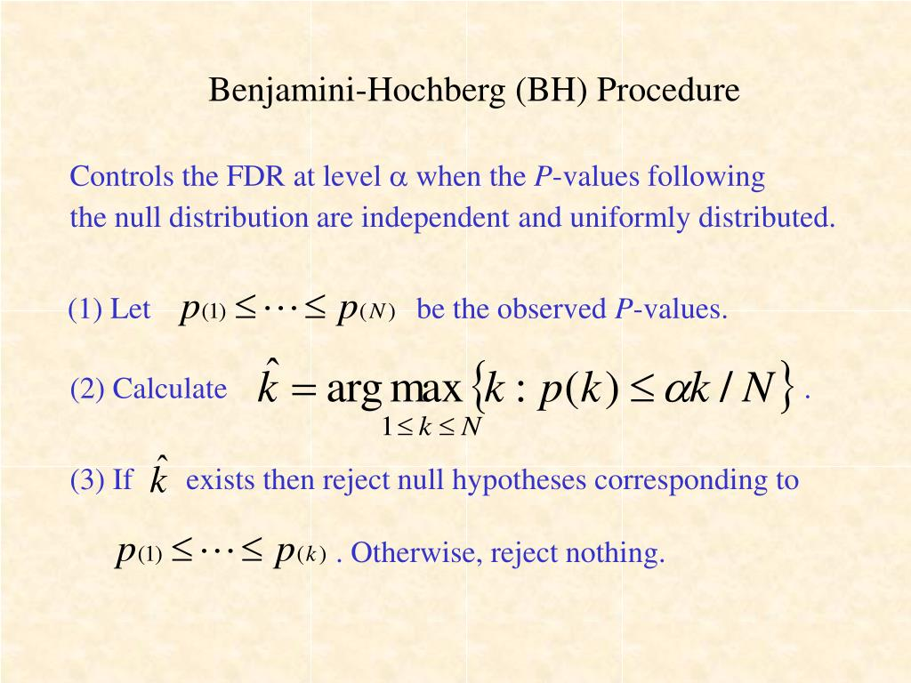 Benjamini-Hochberg (BH) Procedure