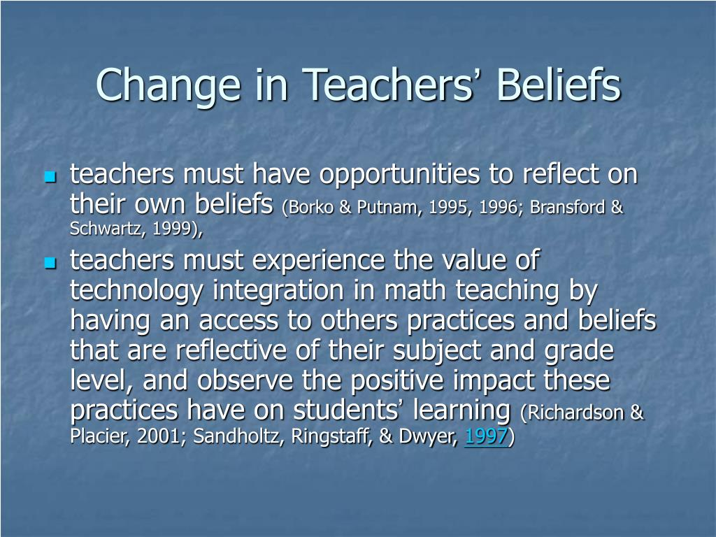 Change in Teachers