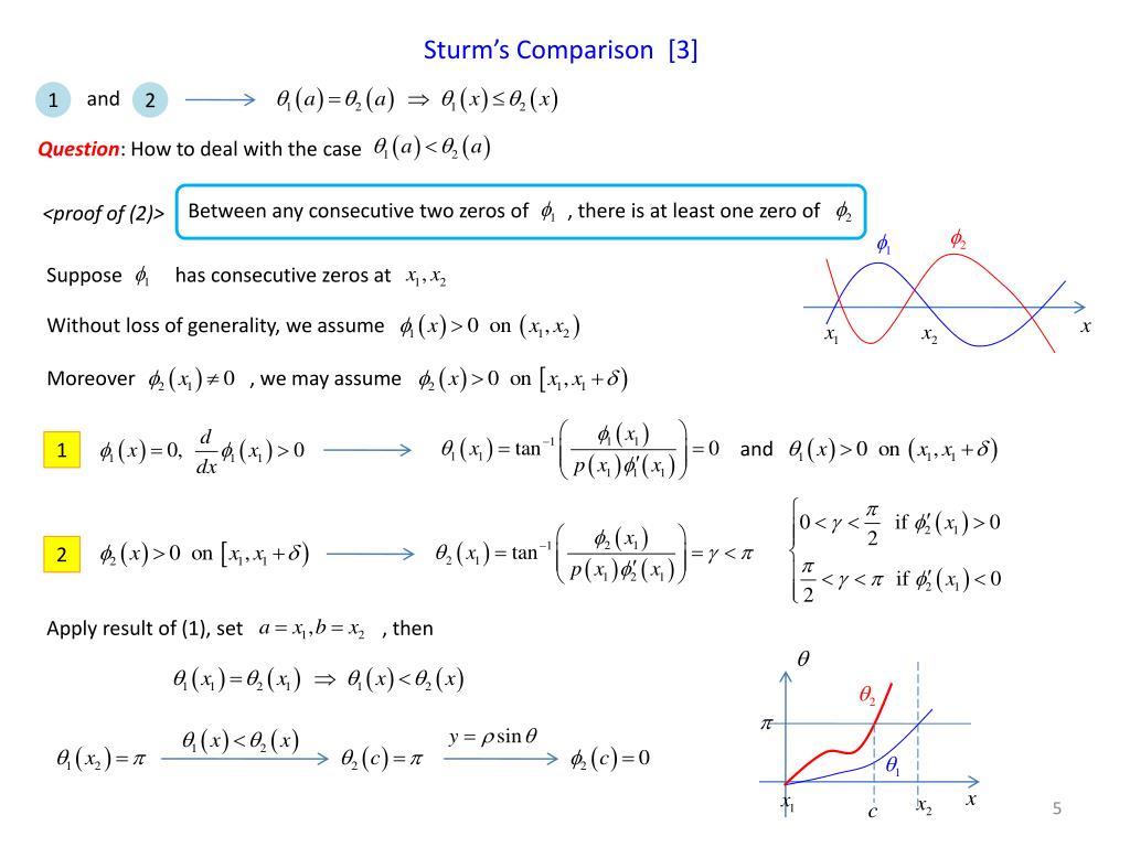 Sturm's Comparison  [3]