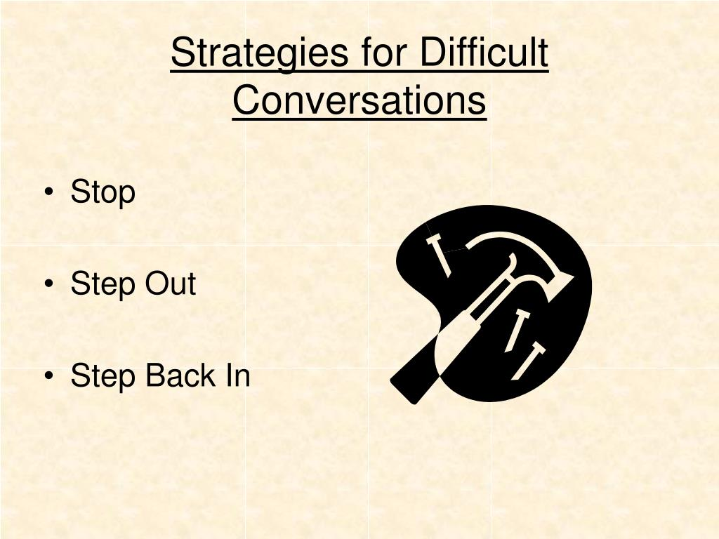 Strategies for Difficult Conversations