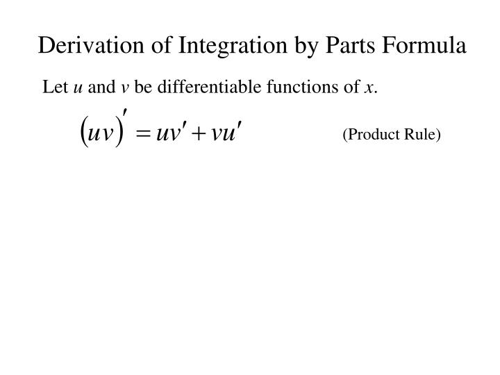 Derivation of integration by parts formula3