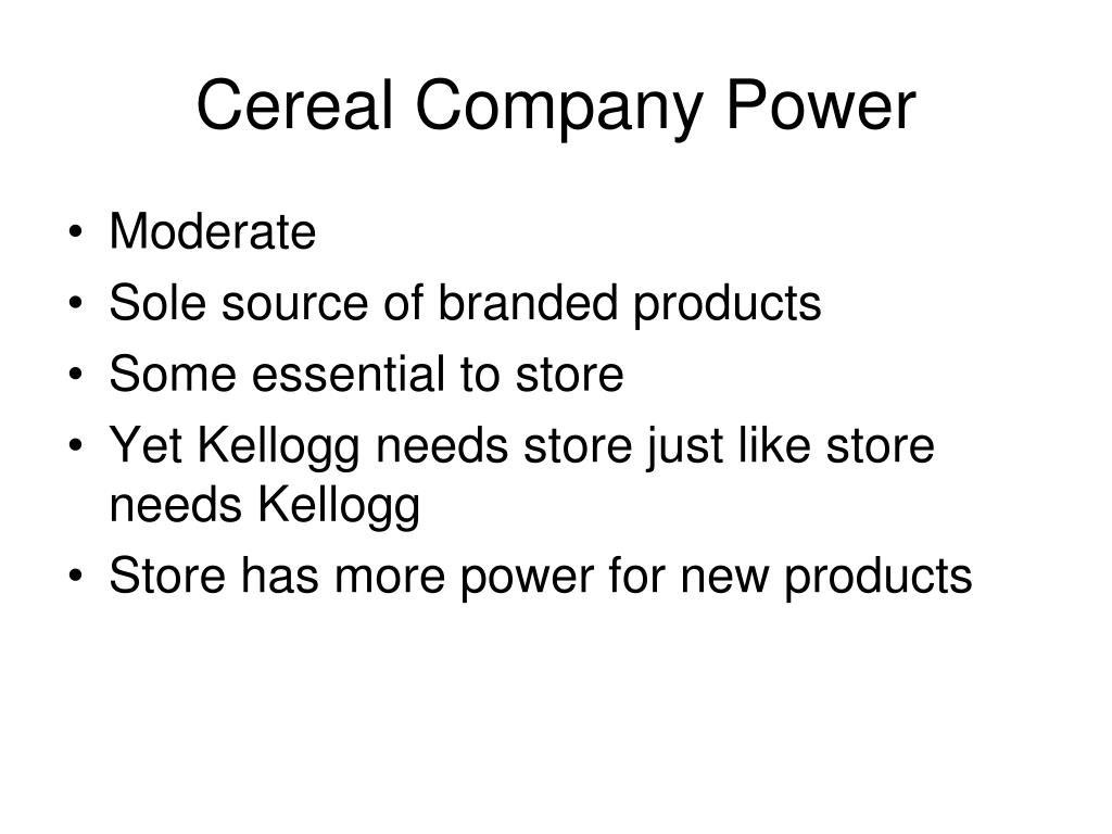Cereal Company Power