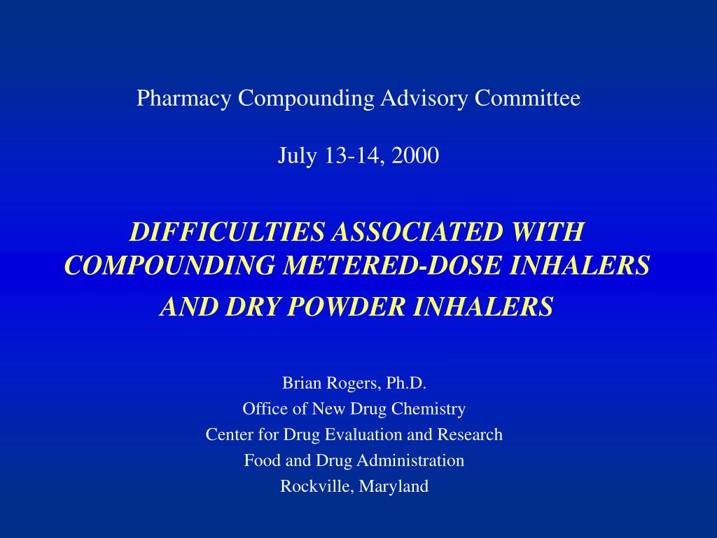 Pharmacy Compounding Advisory Committee