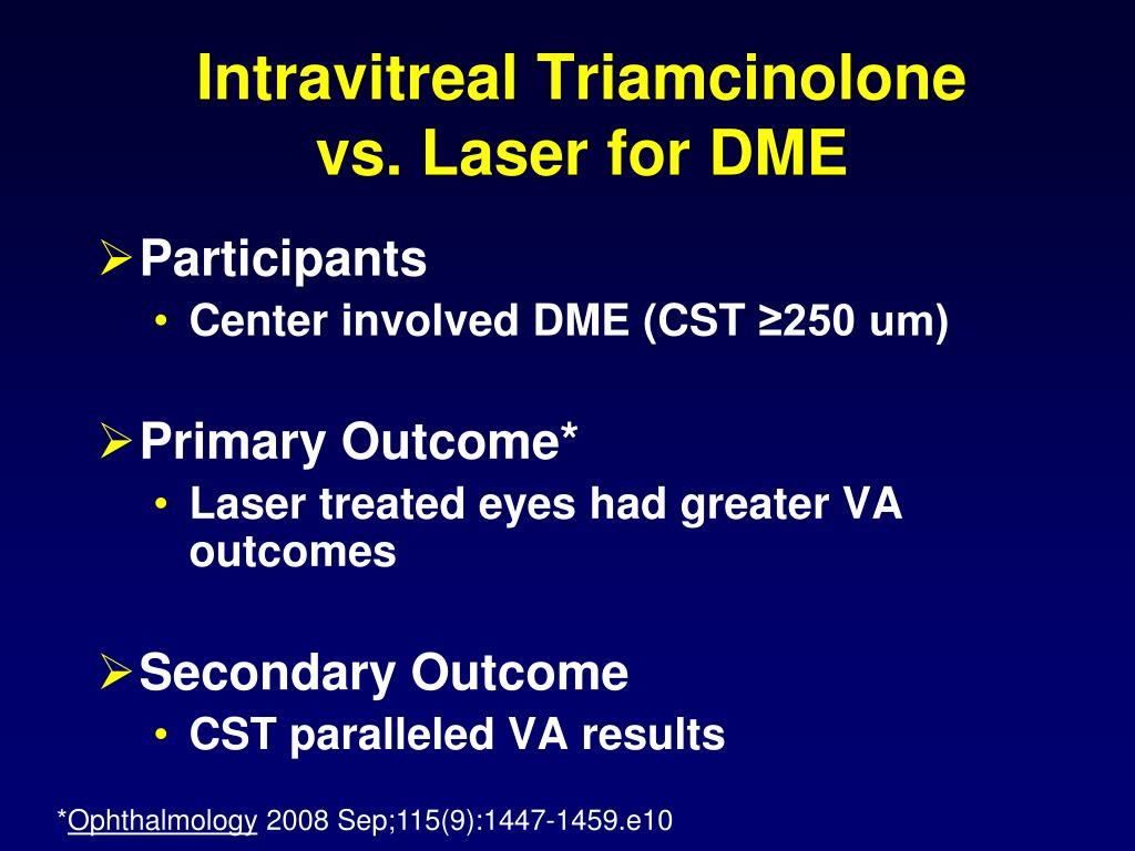 intravitreal steroids macular edema