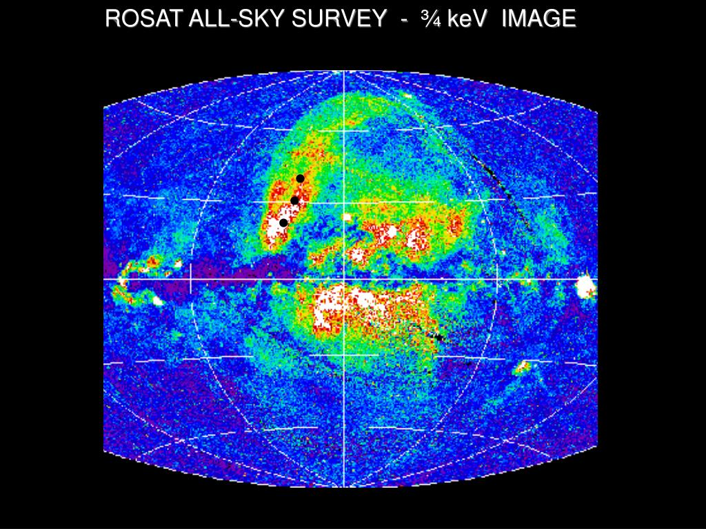 ROSAT ALL-SKY SURVEY  -  ¾ keV  IMAGE