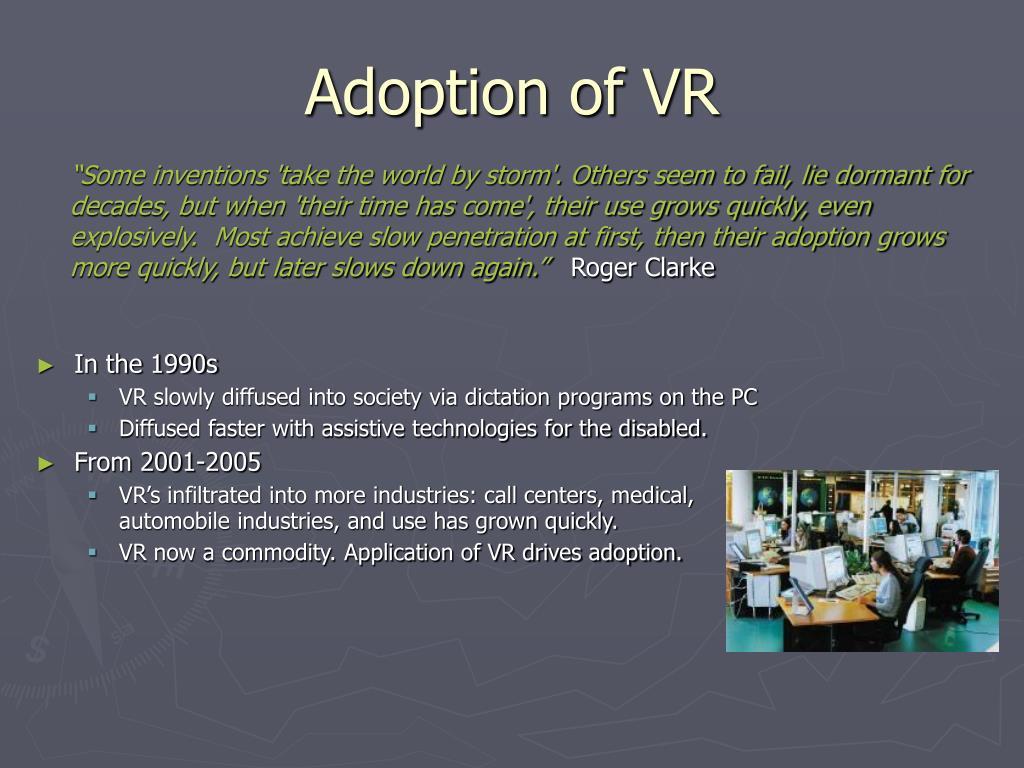 Adoption of VR