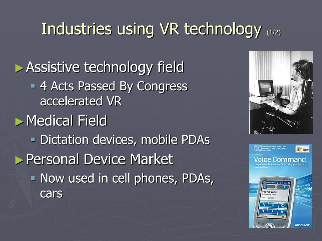 Industries using VR technology