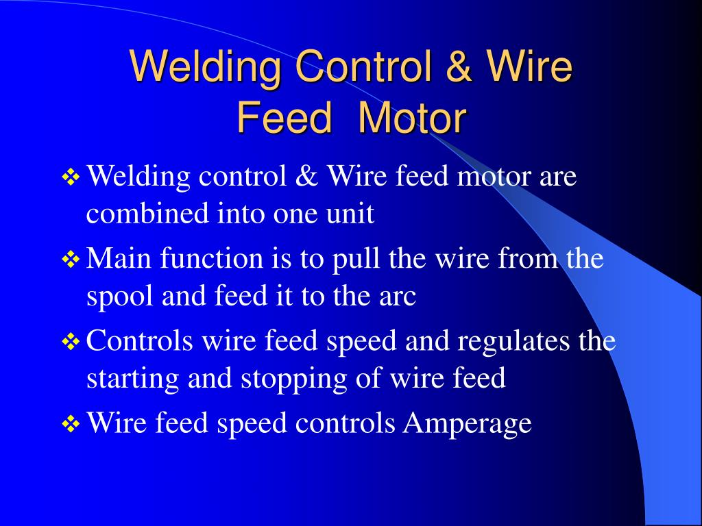 Welding Control & Wire