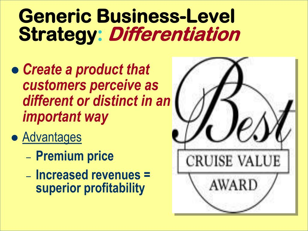 Generic Business-Level Strategy