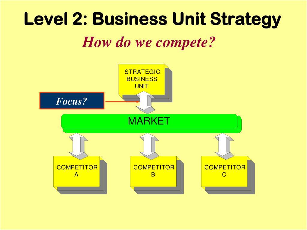 Level 2: Business Unit Strategy