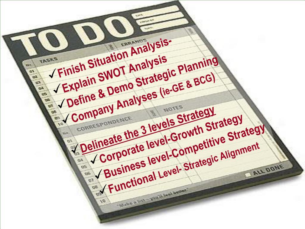 Finish Situation Analysis-