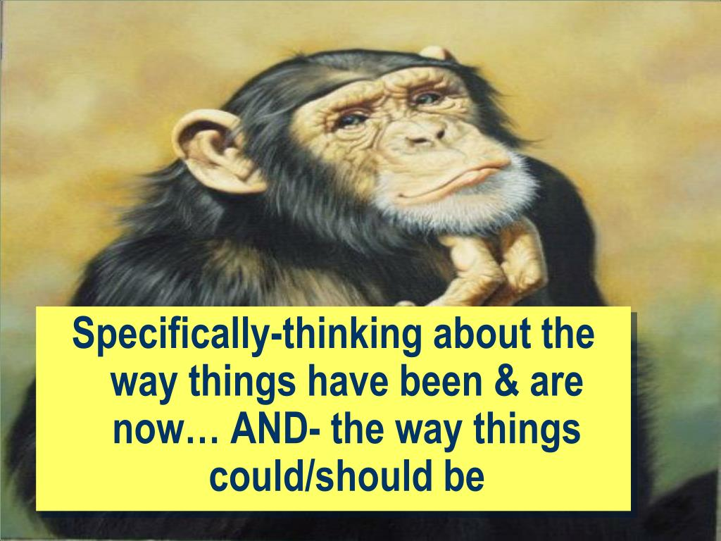 Specifically-thinking about the way things have been & are now… AND- the way things could/should be