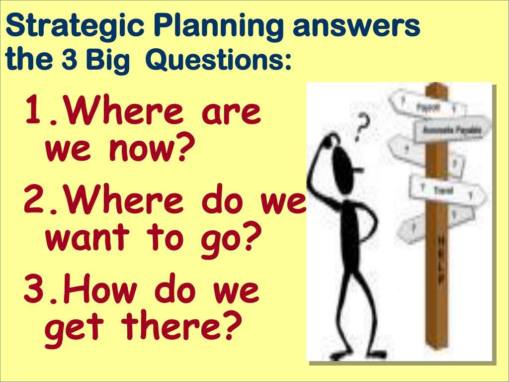 Strategic Planning answers