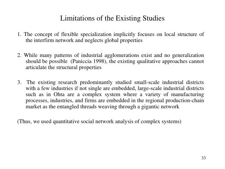 Limitations of the Existing Studies