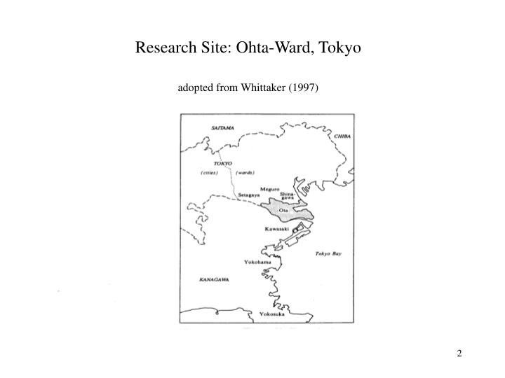 Research site ohta ward tokyo adopted from whittaker 1997