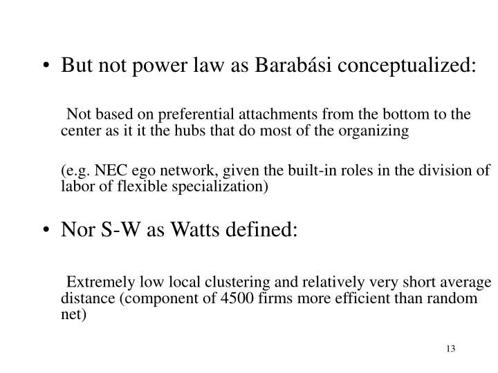 But not power law as Barabási conceptualized: