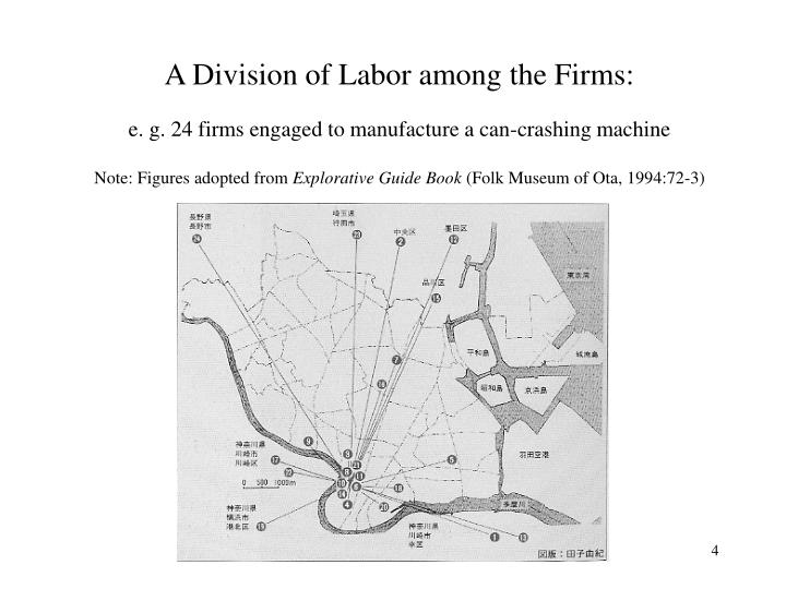 A Division of Labor among the Firms: