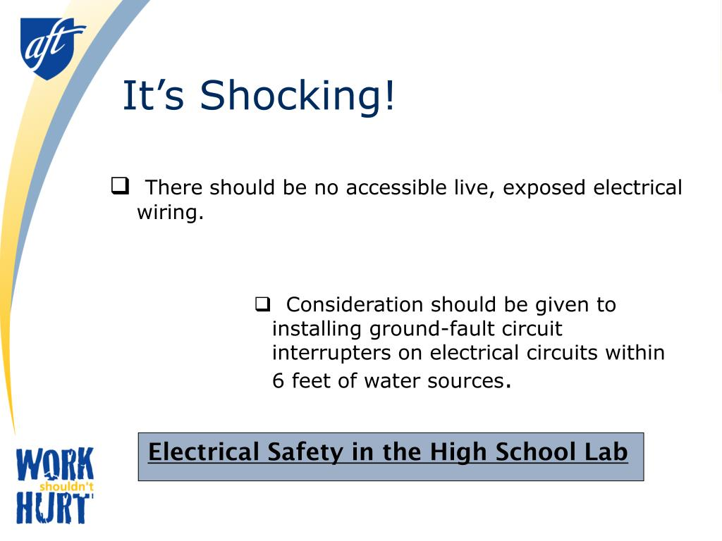 There should be no accessible live, exposed electrical wiring.