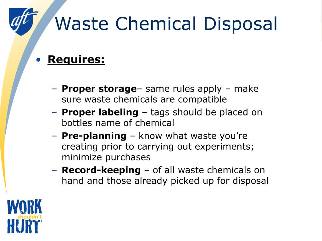 Waste Chemical Disposal