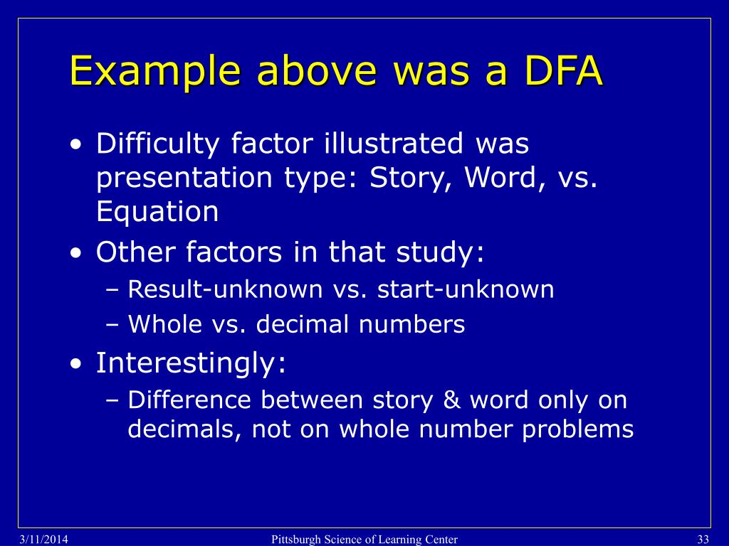 Example above was a DFA