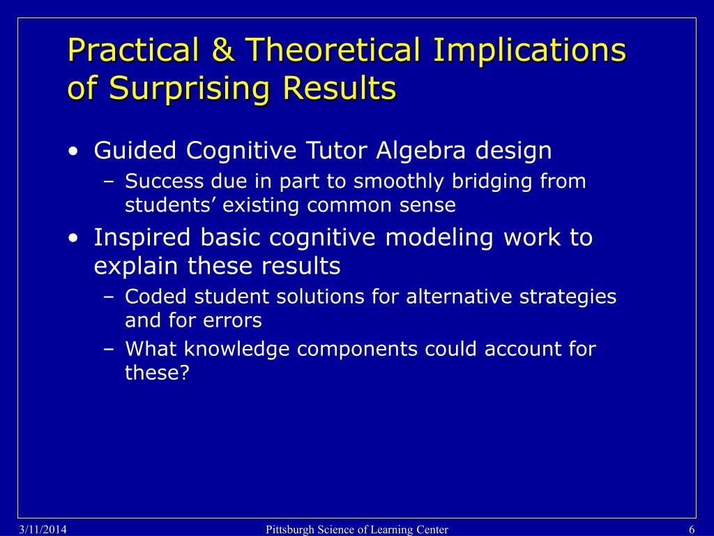 Guided Cognitive Tutor Algebra design