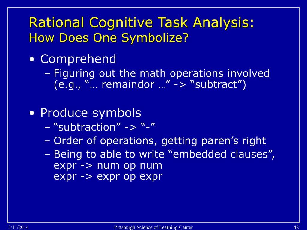 Rational Cognitive Task Analysis: